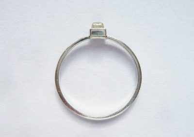 Ring Silber 925/- mit Rohdiamant